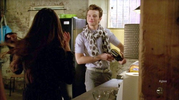Chris Colfer Patterned Scarf