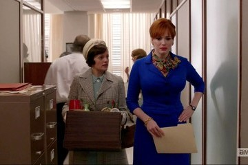 Christina Hendricks Elisabeth Moss Mad Men Season 6 Episode 7