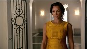 Vanessa Williams looked lit from within in this embroidered saffron dress.
