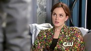 Leighton Meester relaxed in elegance on 'Gossip Girl' in a floral print robe.