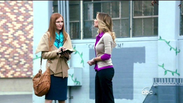 Darby Stanchfield Wool Coat