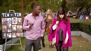Zooey Deschanel showed her quirky winter wear with this fuchsia cape that she donned on 'New Girl.'