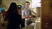 Chris Colfer added major personality to his slacks with a dotted scarf.