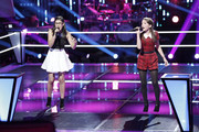 Siahna Im rocked this red collar romper on the stage of 'The Voice'.