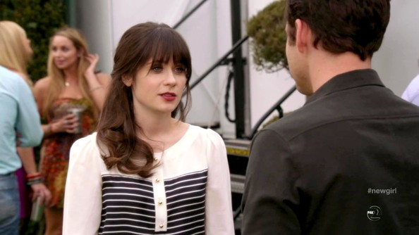 More Pics of Zooey Deschanel Cape (1 of 8) - Zooey Deschanel Lookbook - StyleBistro