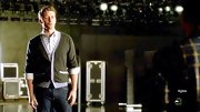 Matthew Morrison paired a classic cardigan over a button down for his 'cool teacher look' on 'Glee.'