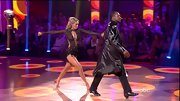 Meow! Kym Johnson left very little to the imagination in a sheer black cutout bodysuit. If you've got it, flaunt it, at least on the 'DWTS' dance floor.