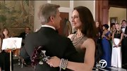 Madeleine Stowe loves dramatic dark pearls! For her 'Revenge' wedding, the actress complemented her gray gown with a matching tiered necklace.