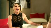 An animated Shenae Grimes showed some skin on '90210' in this sheer black lace top.