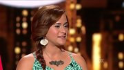 Skylar Laine kept her look country with a silver necklace featuring a bird with outstretched wings.