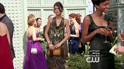 If Sofia Black-D'Elia's print cowl neck gown looks familiar, it might be because Jessica Stroup also wore it on '90210.'