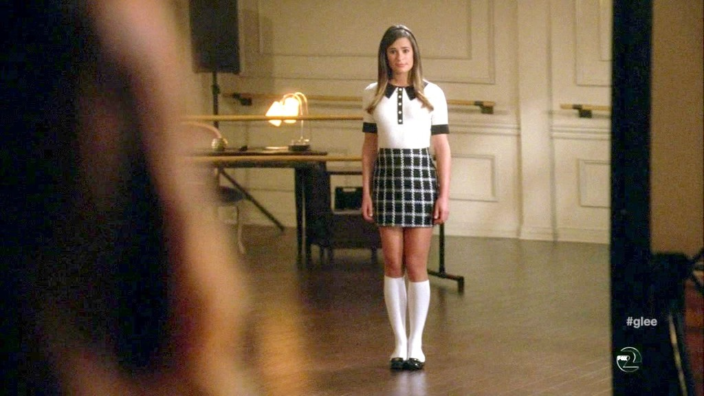 Lea michele in short dress with epic cleavage 4