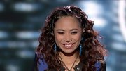 Jessica Sanchez sparkly blue earrings competed with her big bouncy curls for attention.