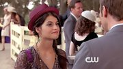 Sofia Black-D'Elia added some spunk to her screen style with a fuchsia porkpie hat.