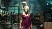 Rachael Taylor's pajamas of choice on '666 Park Avenue' were a pair of short shorts and a berry T-shirt.