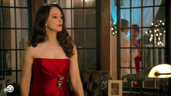 Madeleine Stowe Strapless Dress