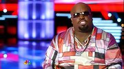 Cee-Lo Green maintained his often wacky wardrobe with a disco inspired silky shirt.