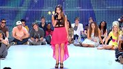 Cece Frey ensured all eyes stayed on her during 'X Factor' bootcamp by wearing this bright cut-out dress.
