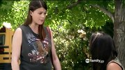 Lindsey Marie Shaw showed some American pride on 'Pretty Little Liars' in  a biker muscle T-shirt.