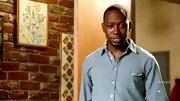 Lamorne Morris had a slight train conductor vibe in a striped chambray button-down shirt.