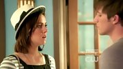 "In order to successfully pull off a cute version of the porkpie hat, one's style should have one of the following adjectives: quirky, daring, funky, or ""pretty hip."" To wit: Jessica Stroup."