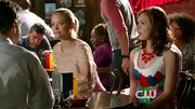 Kaitlyn Black looked Candyland bound on 'Hart of Dixie' in this vibrant dress and matching statement necklace.