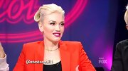Ever the retro queen, Gwen Stefani pulled back her trademark platinum locks into a unique updo with a modified victory roll.