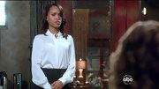 Kerry Washington's button-down shirt with a stand up collar was both sophisticated and chic on 'Scandal.'