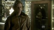 Gabriel Mann looked ready to take flight in this brown leather bomber jacket.