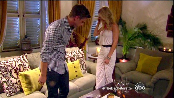 Emily Maynard was island glam in a ruched maxi dress on 'The Bachelorette.'