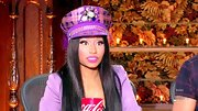 Nicki Minaj's feathered eyelashes were super long and super luscious.