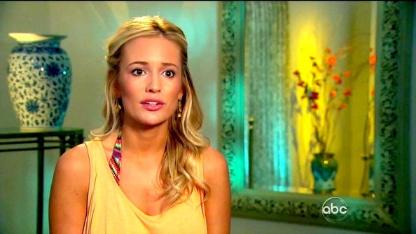 Emily Maynard swept her curls back into a center-parted half-up 'do for a relaxed, beachy look.