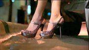 Emily Maynard loves to sparkle, so these glittery pewter peep-toes were a natural pick.