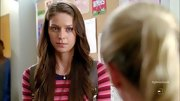 Melissa Benoist showed her stripes on 'Glee' in this darling peplum-skirted top.