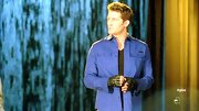 Matthew Morrison looked ready to rumble on the 'Feuds' episode of 'Glee' when he wore this blue button down.
