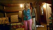 Ashley Benson color-blocked her look with a pair of hot pink skinnies on 'Pretty Little Liars.'