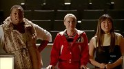 Alex Newell showed off his glamorous side on 'Glee' when he sported this fur vest with a skinny belt.