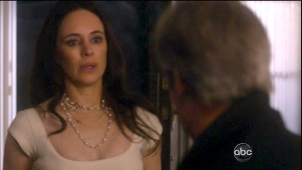 If we didn't know better, we might think Madeleine Stowe's naughty 'Revenge' character was wearing a rosary around her neck.