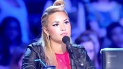 A '40s victory roll 'do was an unexpected addition to Demi Lovato's edgy look on 'The X Factor.'