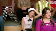 Vanessa Lengies was more than just a little nautical-inspired in a sailor cap and tie-neck top.