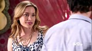 Layered beaded necklaces were the perfect complement to Piper Perabo's earthy maxi dress on 'Covert Affairs.'