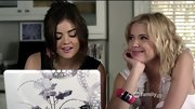 A chunky multicolored bangle was a feminine addition to Ashley Benson's look on 'Pretty Little Liars.'