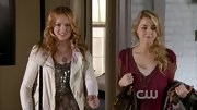 Kaylee Defer added sparkle to her 'Gossip Girl' street threads with a sequined ombre top.