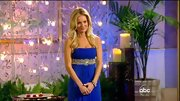 Emily Maynard was a Grecian goddess on 'The Bachelorette' in a cobalt empire waist gown.