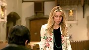 Gillian Zinser looked like she dipped into the early '90s for this floral print blazer.