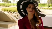 AnnaLynne McCord looked ready for a day at the races in this dramatic straw hat.