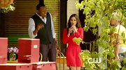 Rachel Bilson was a vision in red on 'Hart of Dixie' in this gathered-waist dress.