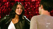 Olivia Munn toughened her look for 'New Girl' in a leather biker jacket.