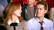 "Oh Jayma Mays, how we've missed your perfect, preppy style. TV's most adorable school counselor came back with a bang wearing Red Valentino's ""Patterned Cardigan."""