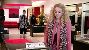 AnnaSophia Robb added some color and texture to her look on 'The Carrie Diaries' when she sported this leopard print scarf.